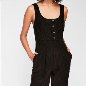 Black corduroy jumpsuit